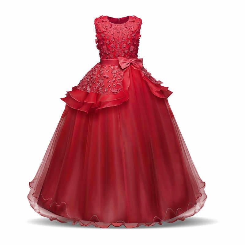Платья для девочек-подростков 10, 12, 14 лет, нарядное платье для дня рождения, выпускного бала, детское праздничное платье принцессы с цветами на свадьбу детская одежда