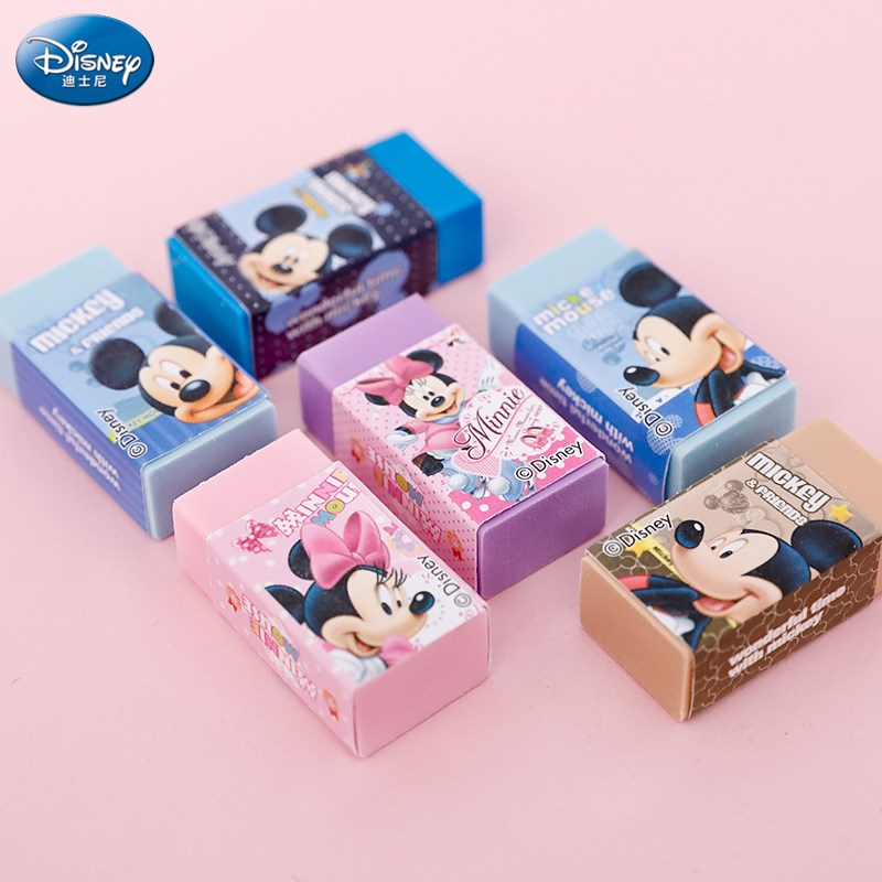 Disney Cartoon Eraser Mickey Minnie Stationery Painting School Supplies Kids Eraser Novelty Erasers
