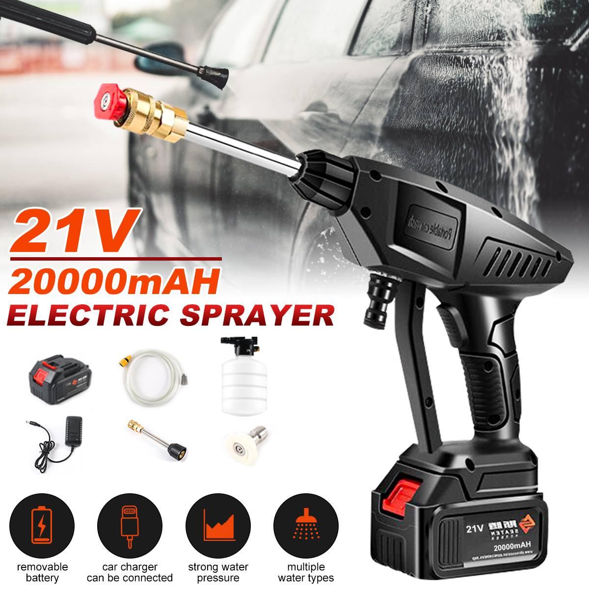 20000mAh Wireless High Pressure Car Wash Water Gun Portable High Pressure Washer Foam Generator For Makita Battery