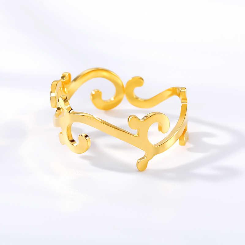 Нежный цветочный венок из роз кольцо из нержавеющей стали ветвь лист Кольца для женщин пара ювелирных изделий вечность любовь укладки Anillos