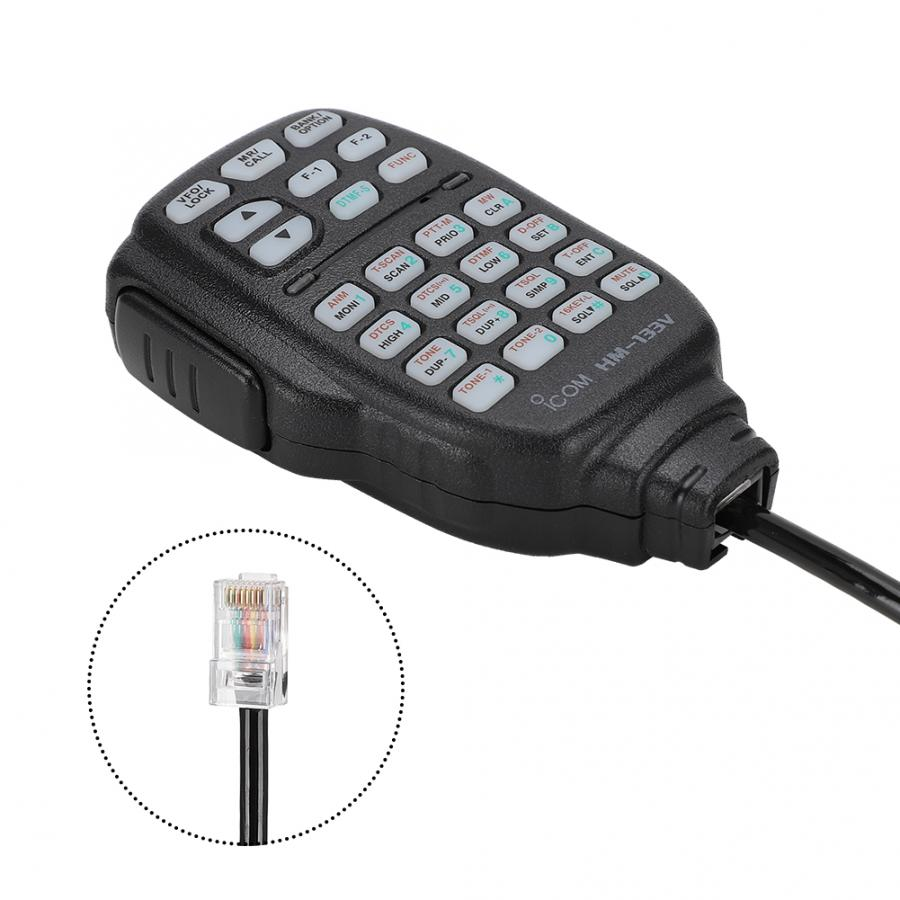 YiNiTone HM-133V Speaker Microphone Mobile Car Radio Hand Mic For ICOM ID-800H ID-880H IC-2800H IC-2820H IC-V8000