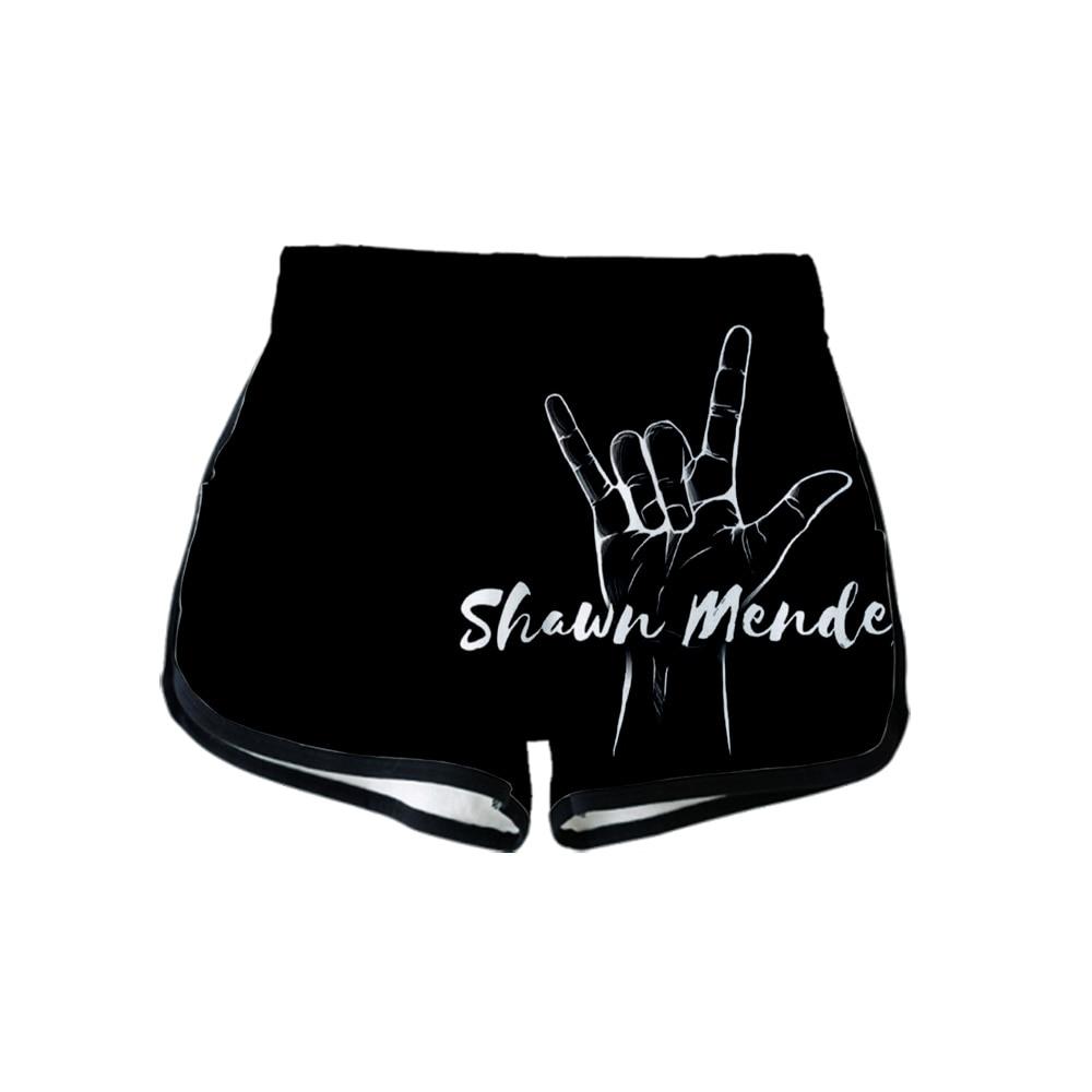 Shawn Mendes 3D/Printed 2019 Hot Harajuku Summer Shorts Women New Arrival Hip Hop Casual Shorts Plus Size XS-2XL Outwear Shorts