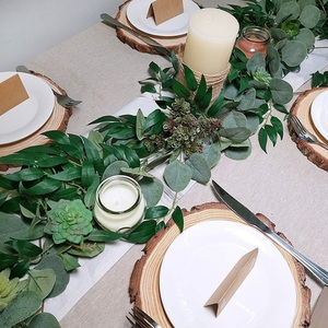 Image 3 - 2M Mixed Artificial Silver Dollar Eucalyptus Leaves and Willow Leaves Vine Wreath Wedding Arch Background Green Garland