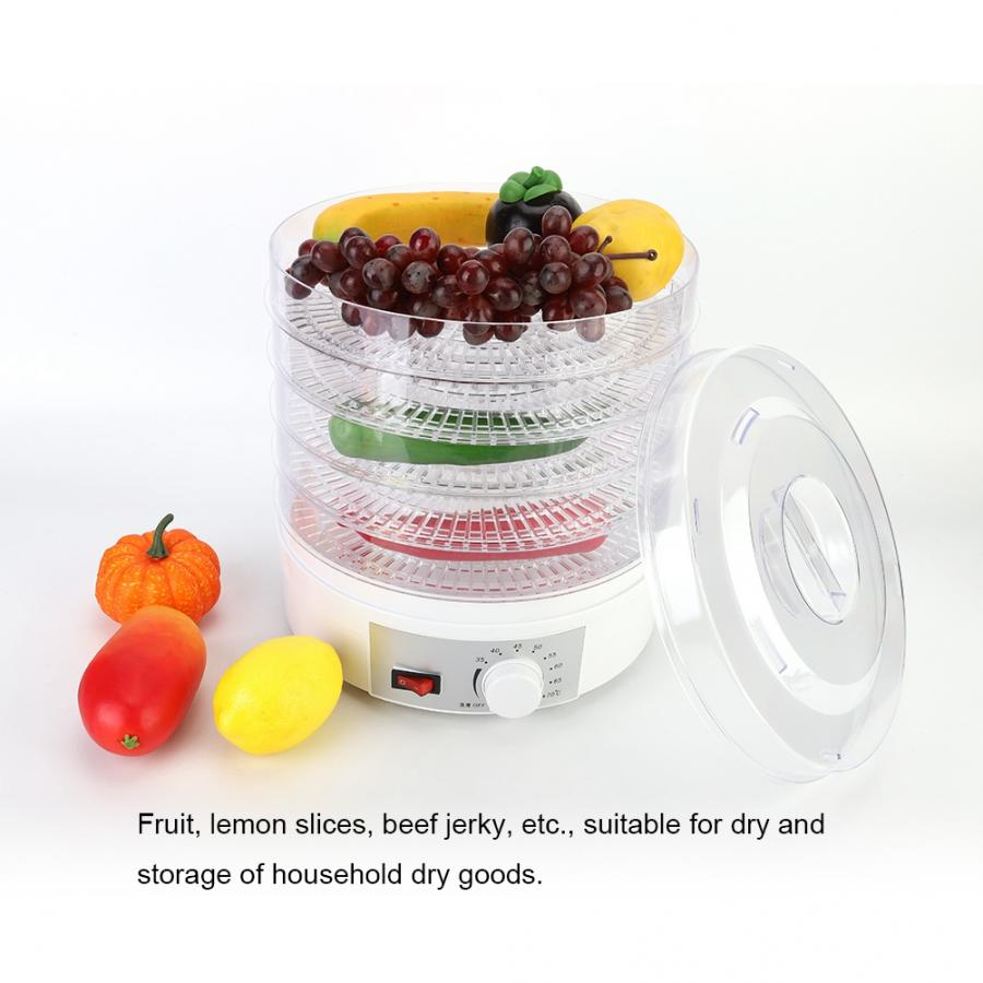 5 Trays Food Dehydrator 15L 350W Household Snacks Dehydration Dryer Fruit Vegetable Herb Meat Drying Machine 220V 110V