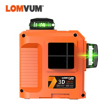 LOMVUM Portable Laser Level 360 Degree Self-leveling Cross Nivel Laser Leveler Laser Line 8 Lines 2D 12 Lines 3D Laser Level fukuda 3d 12 lines nivel laser red beam rotary laser level 360 self leveling cross line horizontal vertical laser leveler mw 93t