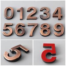 Hous гостиничная дверь адресная цифра табличка знак 0-9 покрытая табличка Addres номер дверная табличка цифра дверь домашний декор цифровой узор