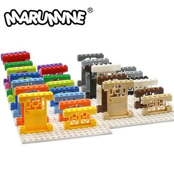 MARUMINE Door 1x4x6 Window And frame 4x3 Building Blocks City Part Classic Bricks Construction Educational Toys - discount item  30% OFF Building & Construction Toys