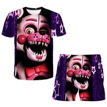 2020 letnie ubrania dla dzieci zestaw fnaf t Shirt + spodnie dla dzieci szorty z motywem kreskówki strój chłopca 3d drukuj 4-14 lat chłopców zestaw poliester tanie tanio XIZOU Aktywny CN (pochodzenie) O-neck Zestawy Children s T-shirt Unisex Krótki REGULAR Pasuje prawda na wymiar weź swój normalny rozmiar