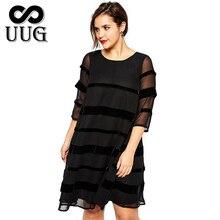 2XL-6XL Plus Size Women Vestidos Dresses 5XL Large Big Size Summer Black Dress 4XL Fat Lady Clothing 3XL Loose Casual Clothes цены