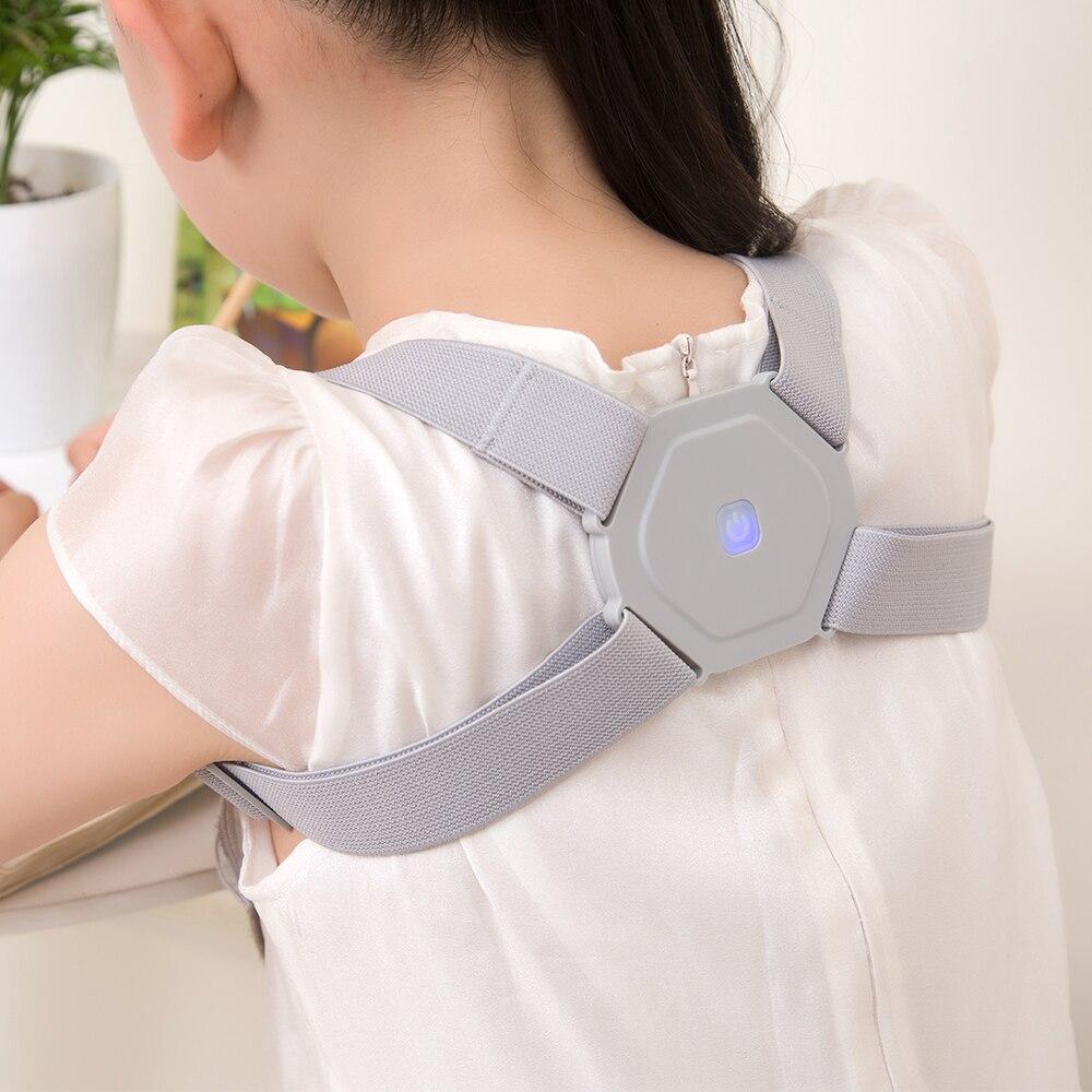 2020 inteligente postura corrector lembrete eletrônico volta apoio ajustável cinta inteligente cinto de apoio ombro treinamento