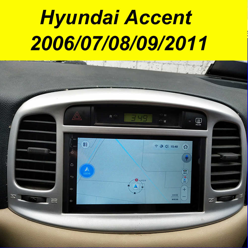 64GB Android 10.0 2Din Mobil Multimedia GPS untuk Hyundai Accent 2006-2011 Auto Radio Navigasi Stereo Head Unit Tape perekam Radio
