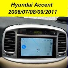 64GB Android 10.0 2Din Car Multimedia GPS For Hyundai Accent 2006 2011 Autoradio Navigation Stereo Head Unit Tape Recorder Radio
