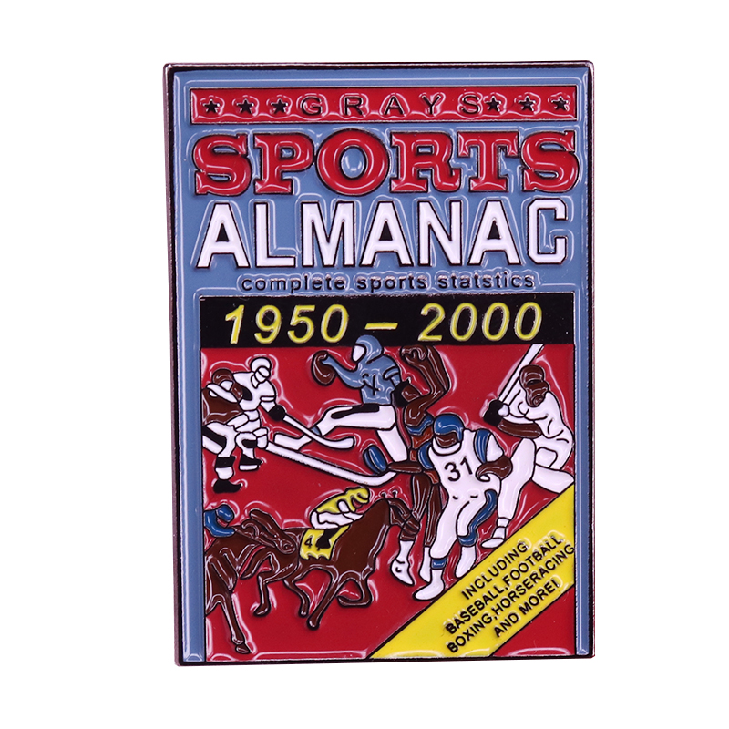 Future notebook brooch an almanac book cover pin Marty McFly Biff