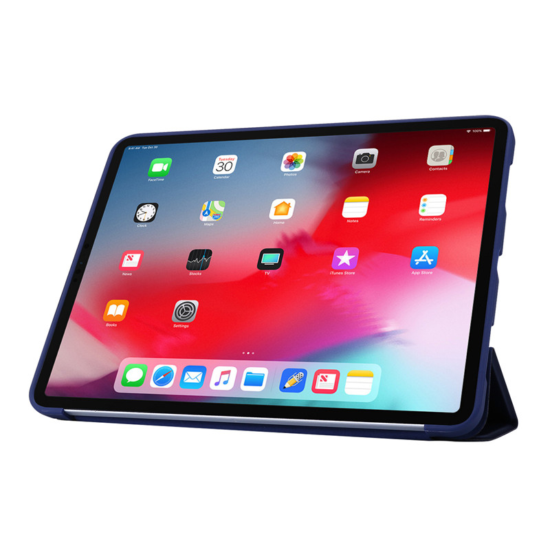 Tri-fold For Soft Smart Case iPad Leather 11Pro 2020 Case PU Case Silicone Cover For