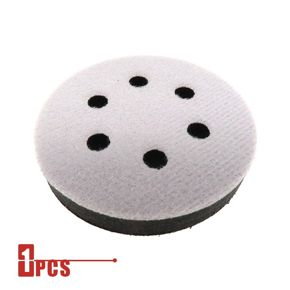 150mm 6trous Soft Interface Pad Crochet Boucle de ponçage disque Sander outils