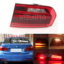 MIZIAUTO Inner side Rear Tail Light For BMW F30 2016-2018 3 Series F80 M3 LED Bumper Brake Stop Lamp