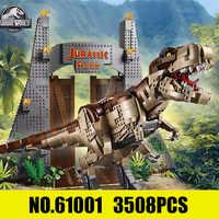 Creator Jurassic era Park Rampage Tyrannosaurus Rex Set kompatibel mit Legoings 75936 Bausteine Ziegel Spielzeug Weihnachten Geschenk