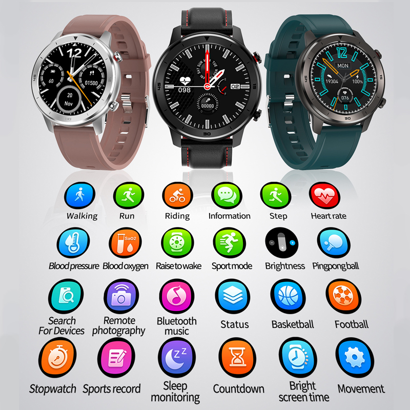 DT78 Smart Watch Men Women Smartwatch Bracelet Fitness Activity Tracker Wearable Devices Waterproof Heart Rate Monitor