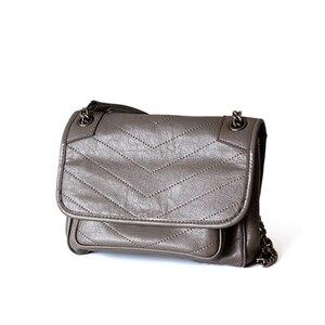 Image 4 - Hakiki gerçek deri inek derisi çanta kadın moda Y bayanlar için popüler 2019 çok kullanımlı omuzdan askili çanta