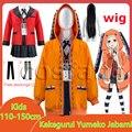 Детские костюмы для косплея из аниме «Kakegurui», школьная форма юмэко джабами для японских девочек, комплект из куртки, рубашки, юбки, чулок и га...
