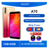 """XGODY A70 Telephone 3G Smartphone Android 8.1 6"""" Cell Phone Full Screen 2GB 16GB Quad Core Dual 5MP Camera 2800mAh Mobile Phones"""