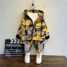 Kids 2020 new summer campBoy Clothes Camouflage Baby Suit Hooded Camo Top + Pants Sport Children Kids Outwear Baby Gifts for