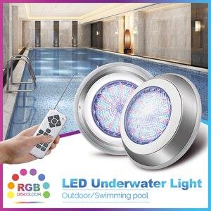Современный нержавеющий светильник для бассейна s Par56 IP68 погружной светильник светодиодный подводный светильник RGB многоцветный AC12V фонтан ...