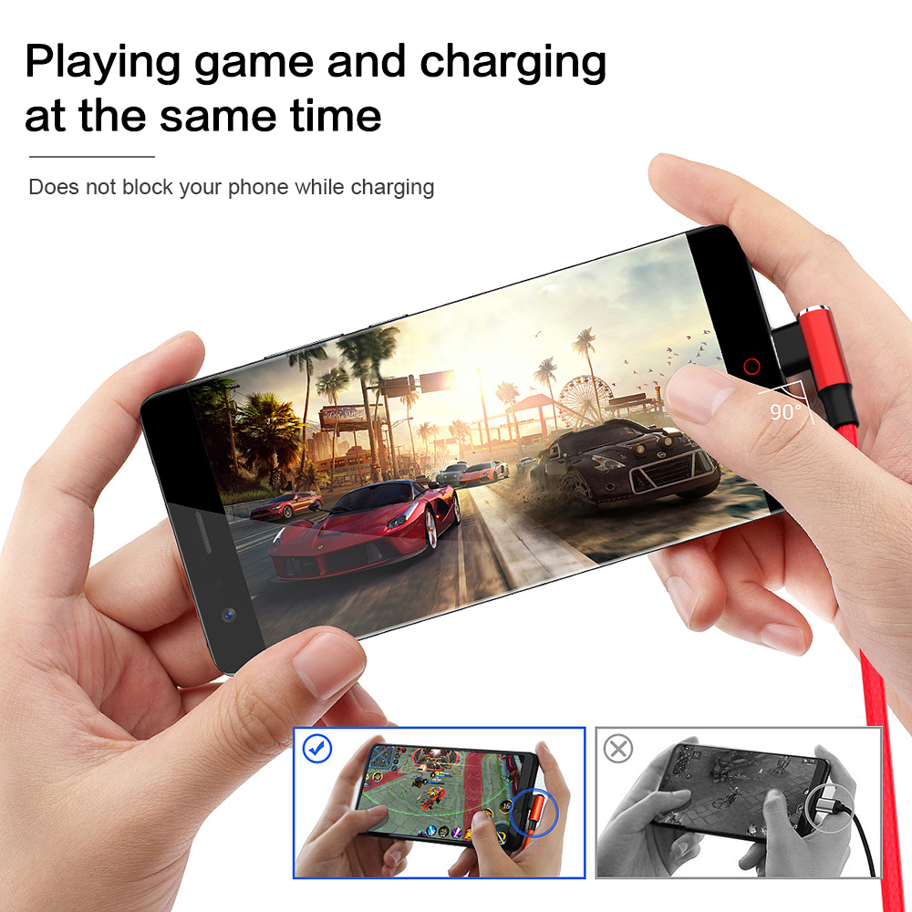 90 degree elbow USB Cable for iPhone Cable X XS MAX XR 8 7 6 6s