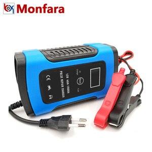 Image 1 - 12 V 6A LCD Inteligente Rápido Carregador de Bateria de Carro para Auto Moto GEL AGM Baterias de Chumbo Ácido Inteligente De Carregamento 12 V 6 UM AMP Volt