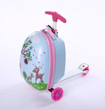 Kids Scooter Suitcase Storage Trolley Case Luggage Skateboard For Children Carry-on Kids Luggage Ride Trolley Case Toy On Wheels