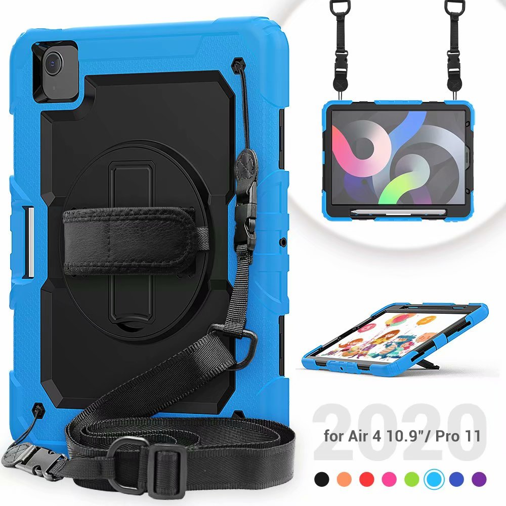 Film Case Duty Protective Kickstand For Generation Air Silicone Heavy 4th iPad Screen with