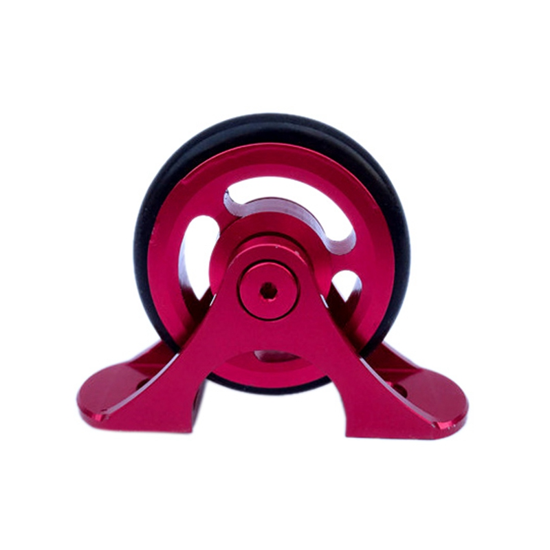 1 Pcs Folding Bike Easy Wheels Bike Single Mudguard Fender Wheel Rollers For Brompton Rose Red