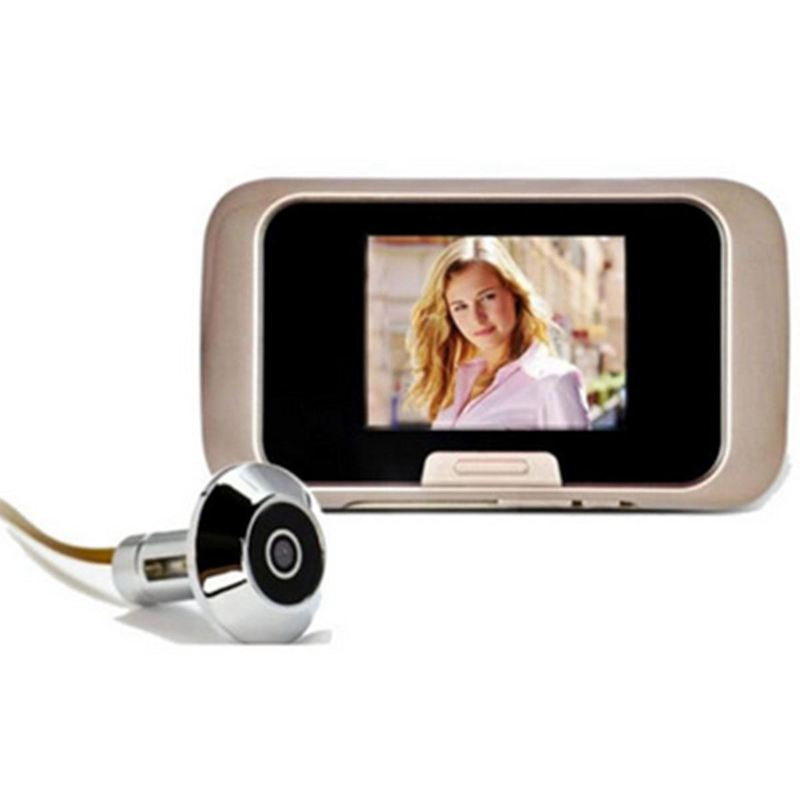 2.8 Inch LCD Screen Smart Peephole Viewer Visual Doorbell Digital Camera DVR Video Photo Recording EU Plug