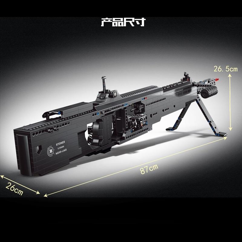 Yeshin PG15003 The M249 Light Machine Gun Model