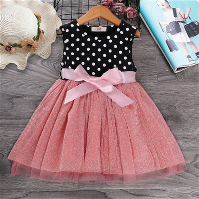 Summer Girls Dress Kids Clothes Baby Dresses Vestidos European Clothing Children Princess Flower Birthday Wedding Party Vestido
