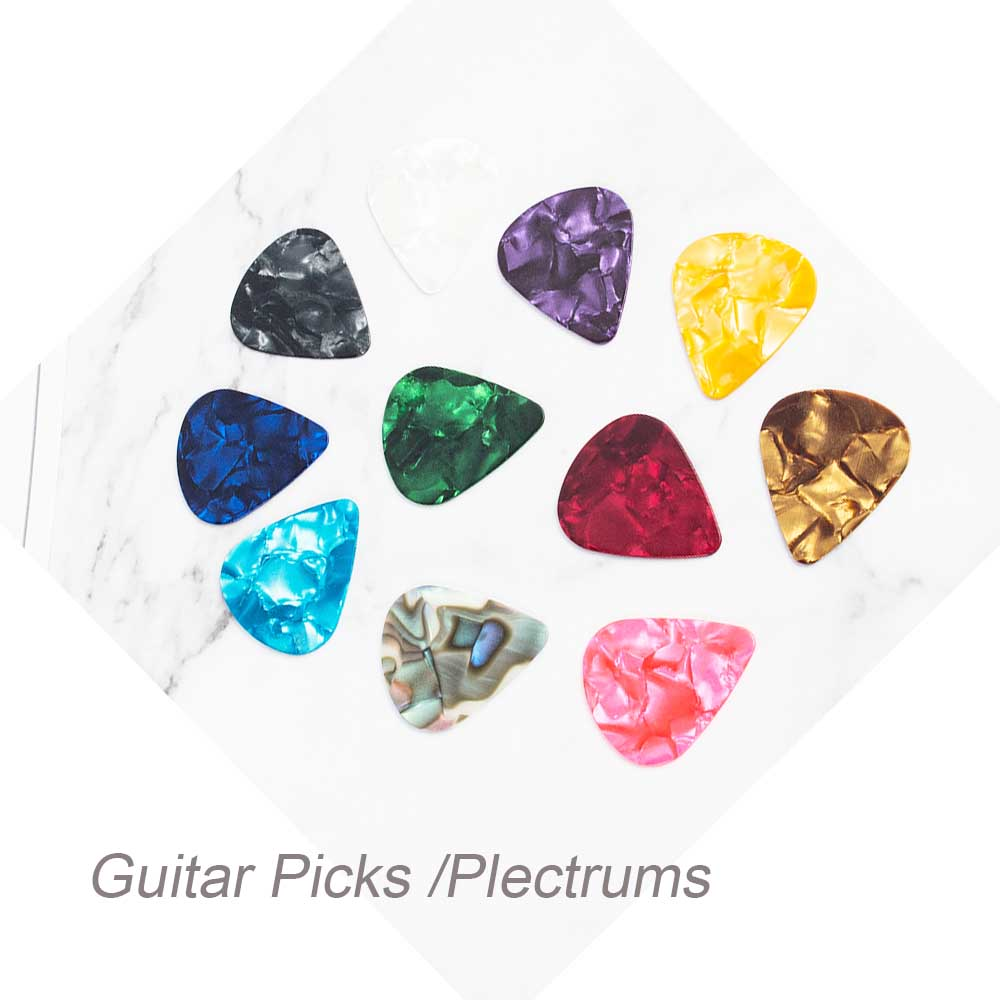 10/30 Pcs High Quality Guitar Pick 0.46mm 0.71mm 0.96mm Acoustic Picks Plectrum Celluloid Electric Smooth Guitar Accessories