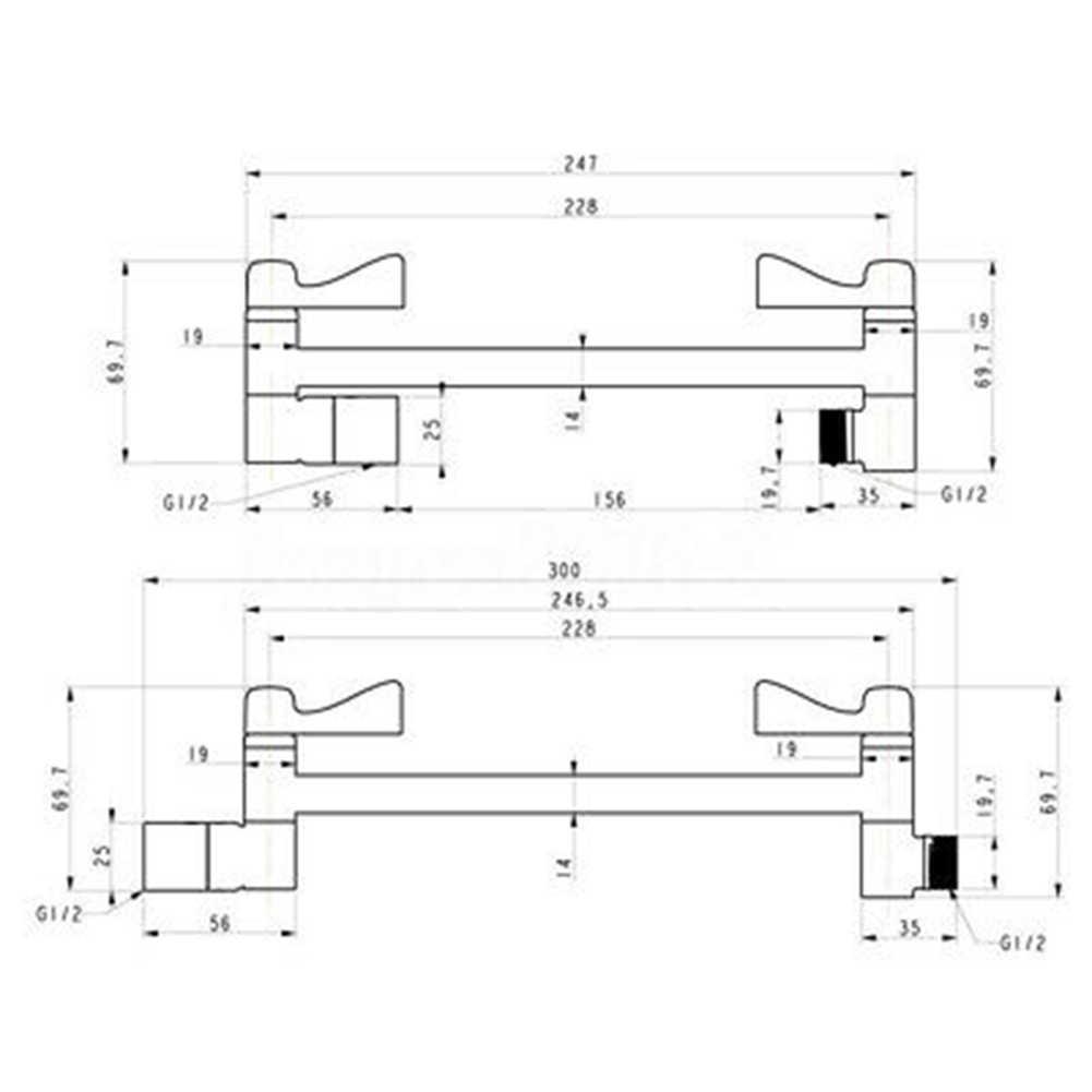 Zilver Solid Verstelbare Hoogte Hoek Douchekop Extension Arm Extender Levert