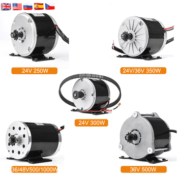 Electric Bike Conversion Kit 24V 36V 48V DC Brushed Motor 250W/350W/500W Electric Motor Mid Drive Motor 1000W for Electric Bike dual drive 70mm 83mm 90mm 180w 250w 350w electric skateboard hub motor 8inch truck dual drive electric skateboard motor