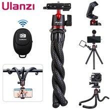 Ulanzi MT-11 viagem polvo flexível para smartphone dslr slr vlog tripé para câmera gopro 9 iphone huawei portátil 2 em 1 tripé