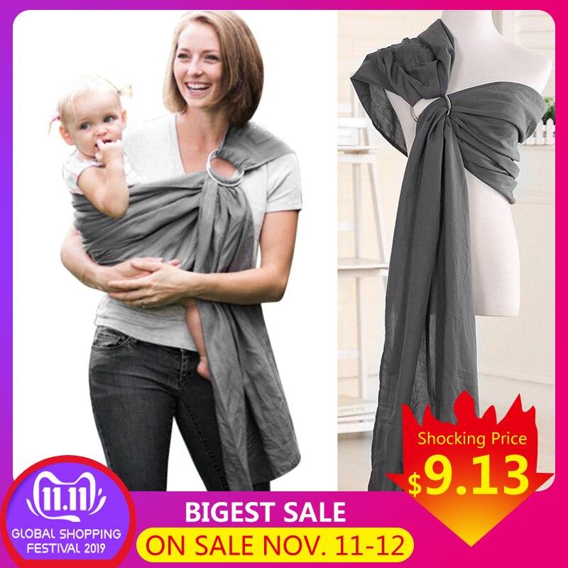 Baby Infant Sling Wrap Weich Natürliche Wrap Mode Mutter Baby-Träger 0-2 Jahre Atmungsaktive Baumwolle Hipseat Pflege abdeckung