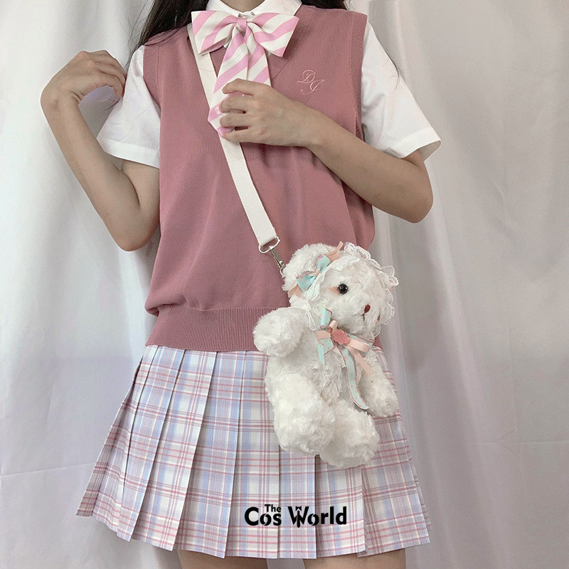 [The Dream] Girl's Summer High Waist Pleated Skirts Plaid Skirts Women Dress For JK School Uniform Students Cloths