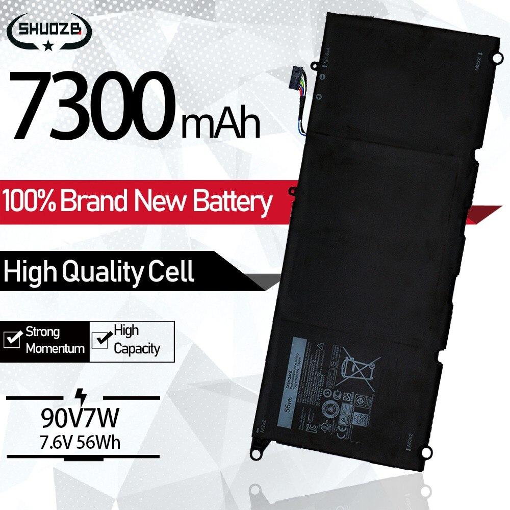 7300mAh 90V7W JHXPY 090V7W 13 JD25G Bateria Do Portátil Para Dell XPS 9343 XPS13 9350 13D-9343 P54G 0N7T6 DIN02 0DRRP RWT1R 7.6V 56Wh