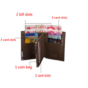 Image 4 - Black/Light Bronw/Dark Brown Top PU Leather Car logo Bag Card Package Wallet Coins Bag Silver M Power Free Shipping