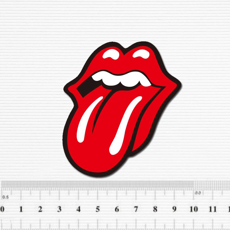 Red Tongue Tide Brand Waterproof Sticker For Luggage Car <font><b>Guitar</b></font> Skateboard Phone Laptop Bicycle Kids Stickers image