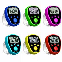 Five Groups Of Counters Finger Electronic Counter LCD Digit Electronic Finger Counter Resettable Hand Tally Counter Random Color