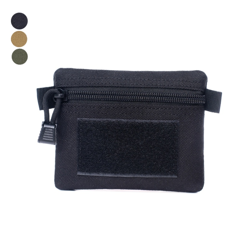 Outdoor Multi-function (Tactical) Square Wallet Purses Waterproof Sports Zipper Card Key Holder Change Coins Pocket Sack New
