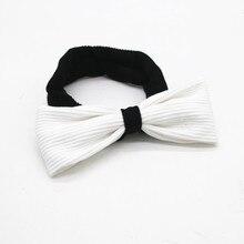 Зимний стиль ребристые детские ленты с бантами помпон черный и белый Детские аксессуары для волос