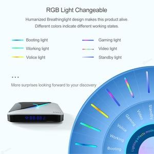 Image 5 - 2020 A95X F3 אוויר 8K RGB אור חכם טלוויזיה תיבת Amlogic S905X3 אנדרואיד 9.0 4GB 64GB Plex מדיה שרת Youtube ממיר