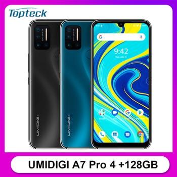 UMIDIGI A7 Pro 4G teléfono móvil 6,3 pulgadas FHD + 4GB 128GB 16MP Quad Cam Android 10 Helio P23 Octa Core 4150mAh Smartphone