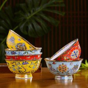 4,5/5/6/8 дюйма винтажная Китайская традиционная керамическая посуда суп рисовая чаша Цзиндэчжэнь костяные китайские пиалы для лапши рамен ми...